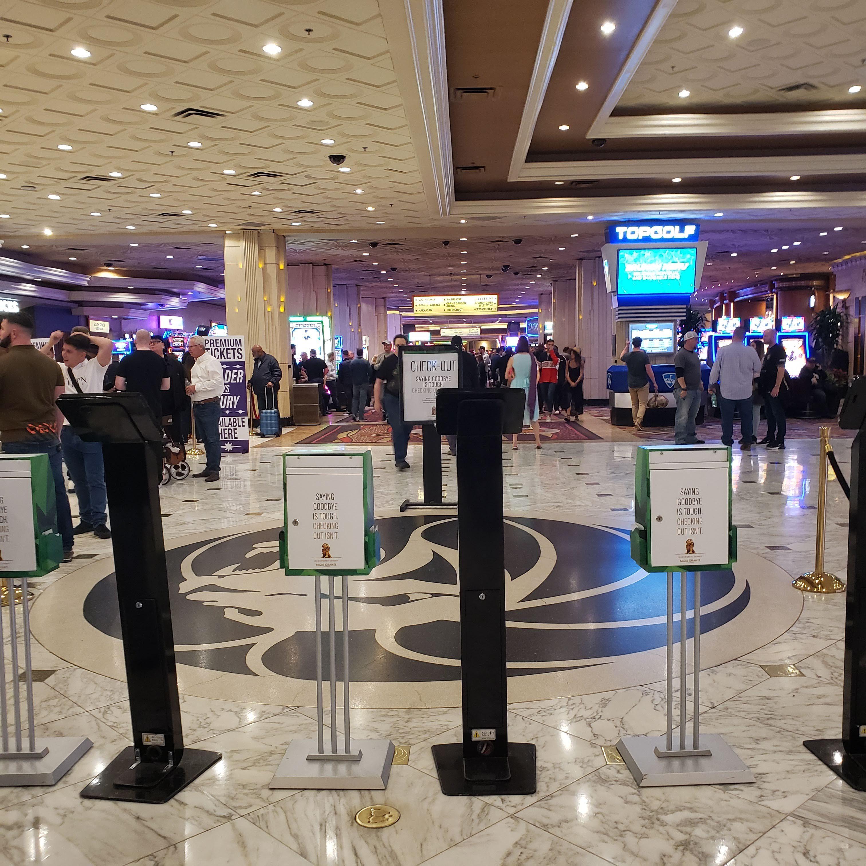 Casino consultant Kiosks casino lobby